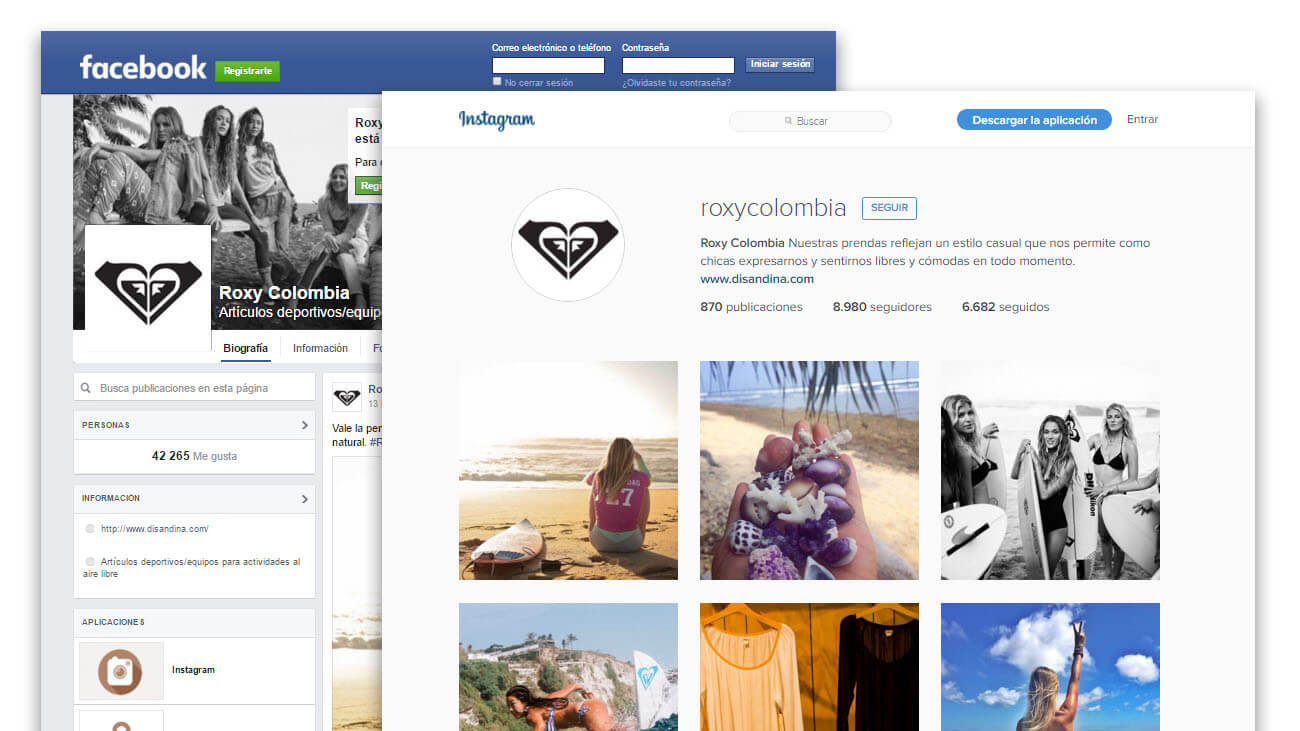 facebook web roxy - interno